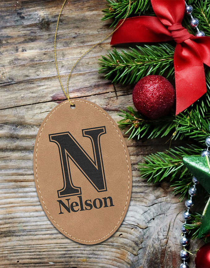 Personalized Leather Ornament